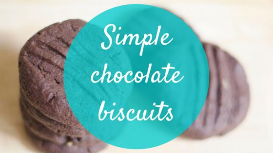 Simple chocolate biscuit recipe