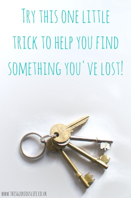 Try this to help find something you've lost