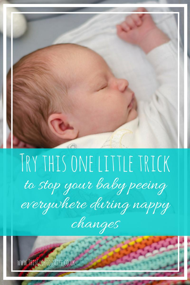 Stop baby peeing everywhere during nappy changes