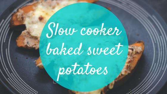 slow cooker baked sweet potatoes