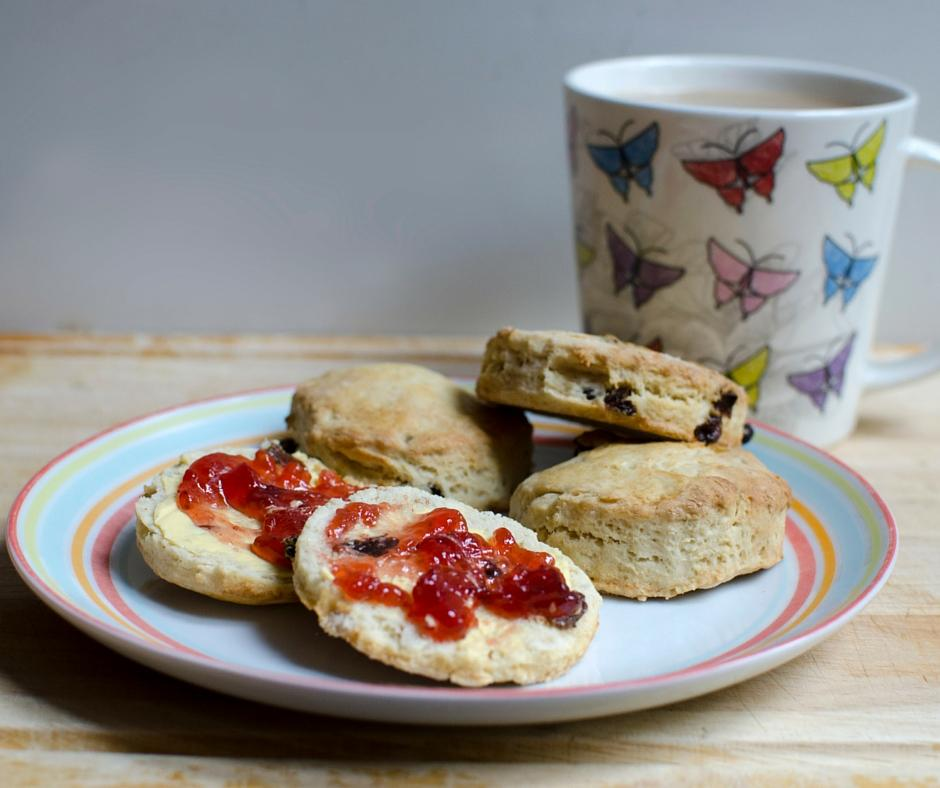 simple all-butter scones