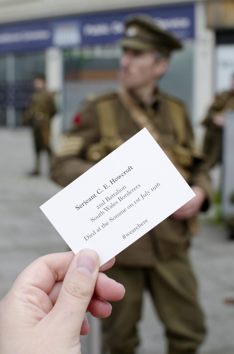 we're here because we're here Somme tribute