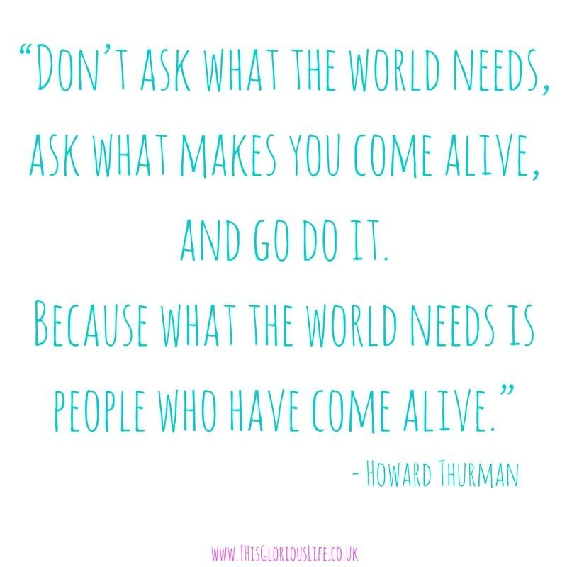 Don't ask what the world needs