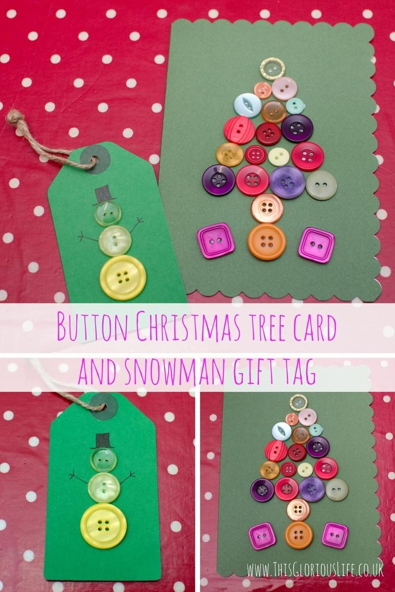 button-christmas-tree-card-and-snowman-gift-tag