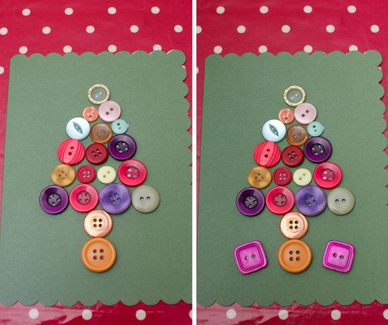 button-craft-christmas-tree-card