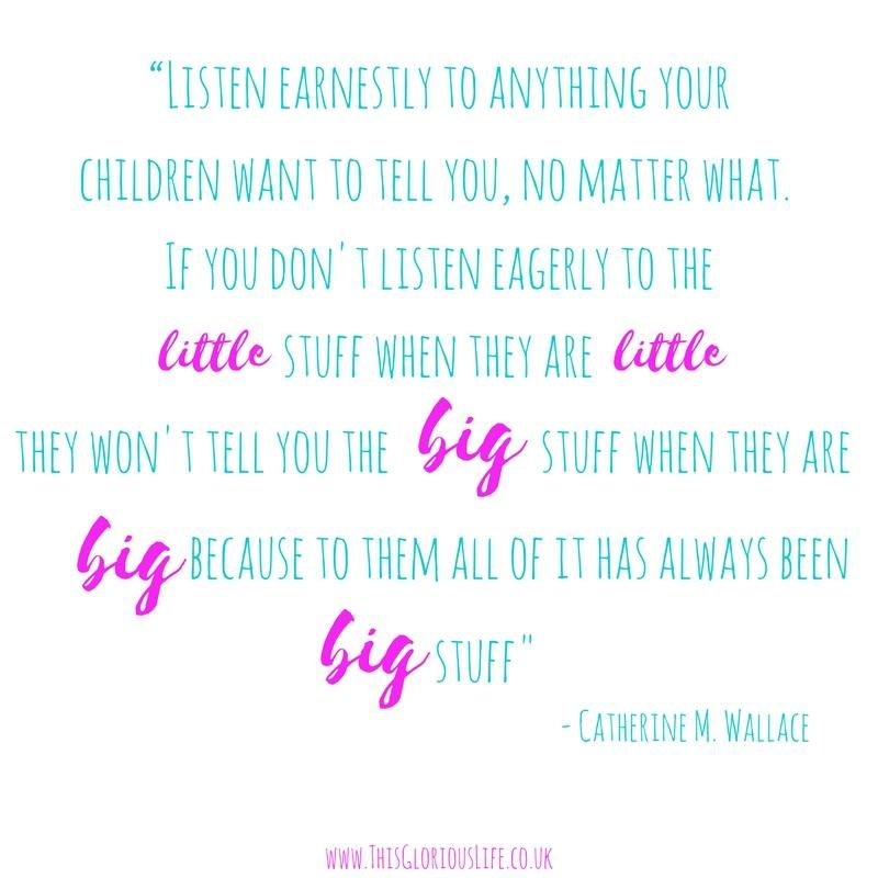 """Listen earnestly to anything your children want to tell you, no matter what. If you don't listen eagerly to the (4)"