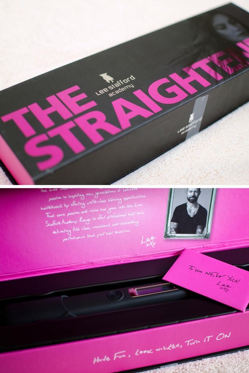 lee stafford academy hair straighteners black pink box