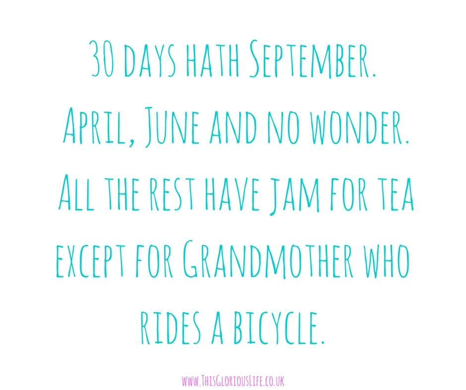 30 days hath September