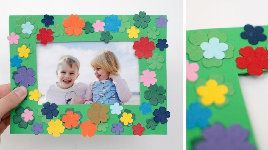 spring-flower-craft-photo-frame