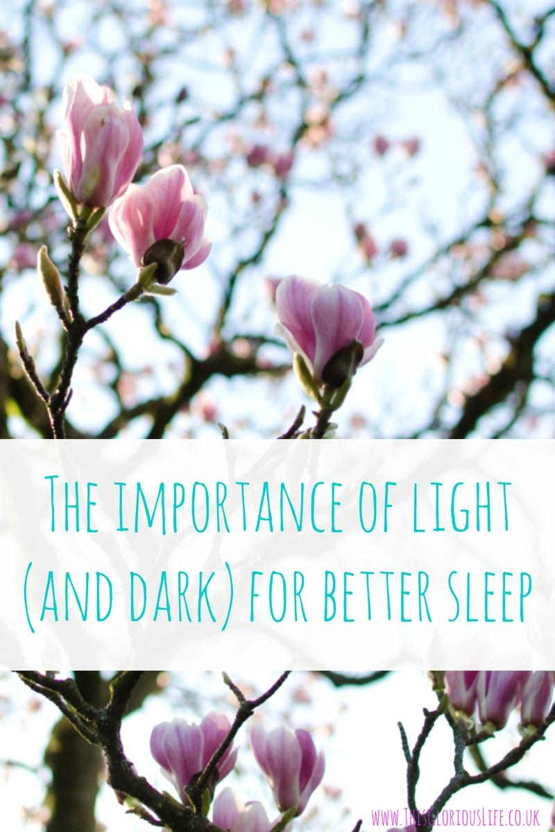 The importance of light for better sleep
