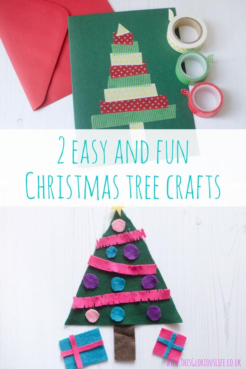2 easy and fun Christmas tree crafts