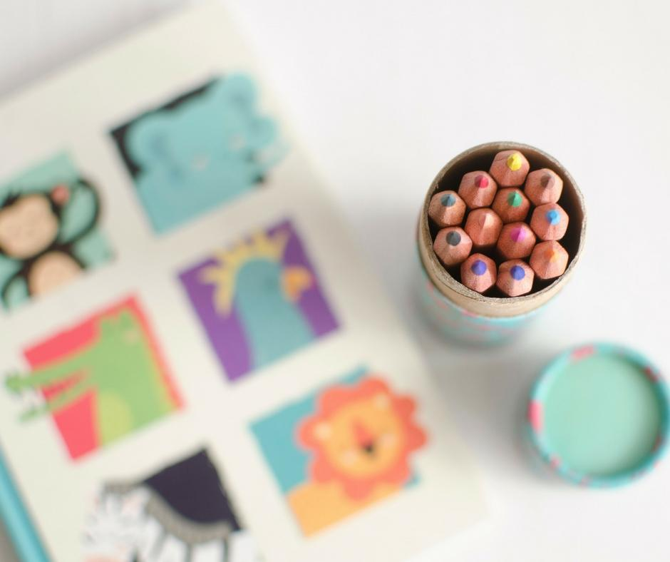 cancer care parcel notebook coloured pencils