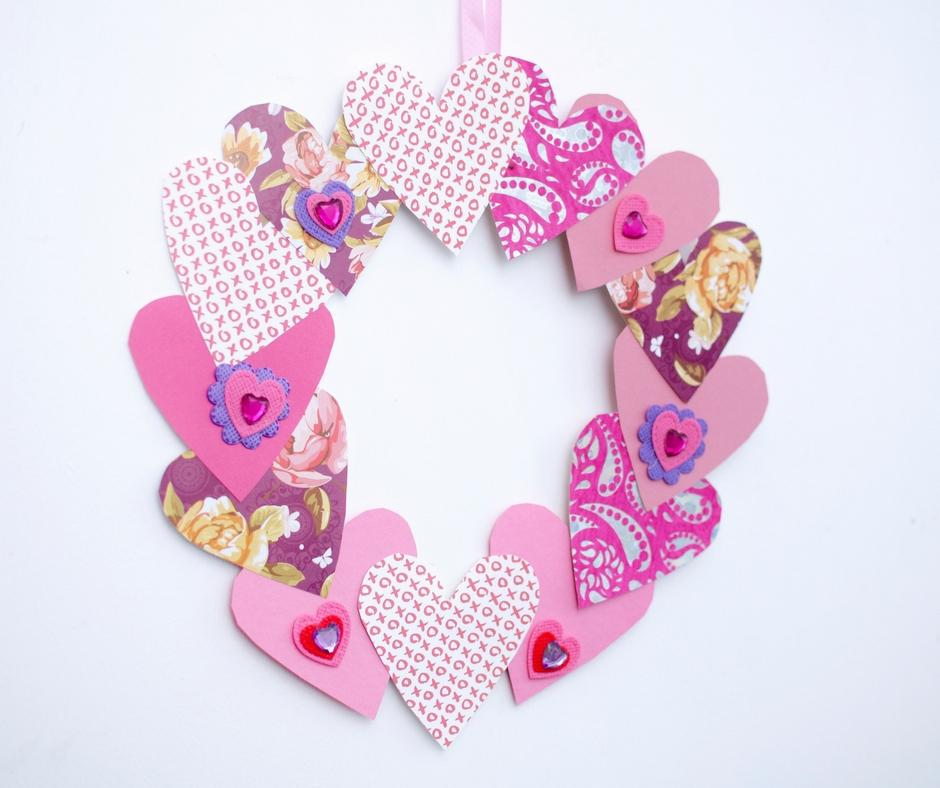 craft activity valentines day wreath