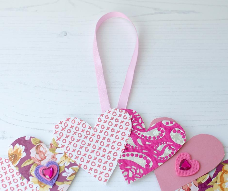 valentines day wreath hanging ribbon