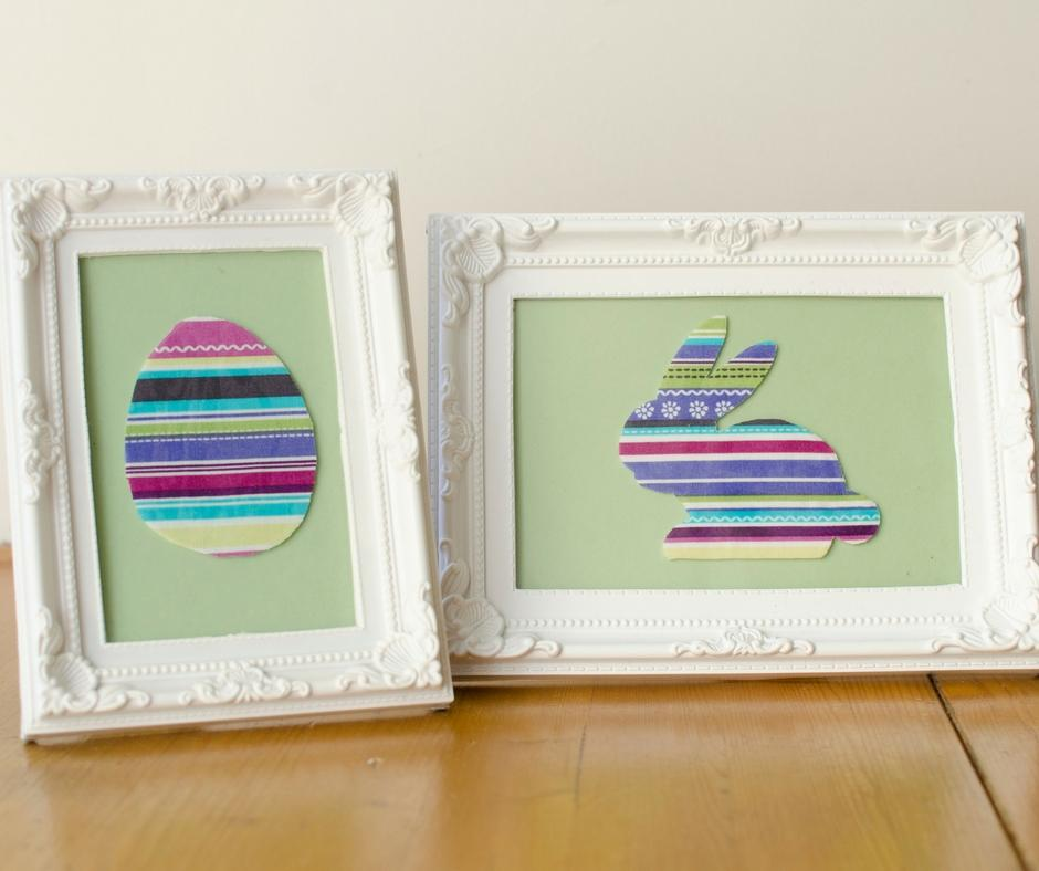 Cute and simple framed easter pictures