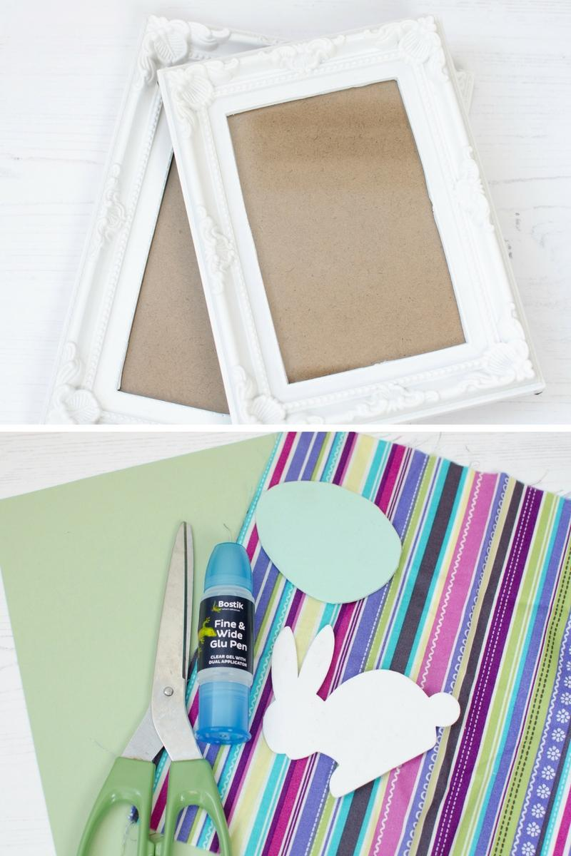 Simple framed Easter decorations what you need
