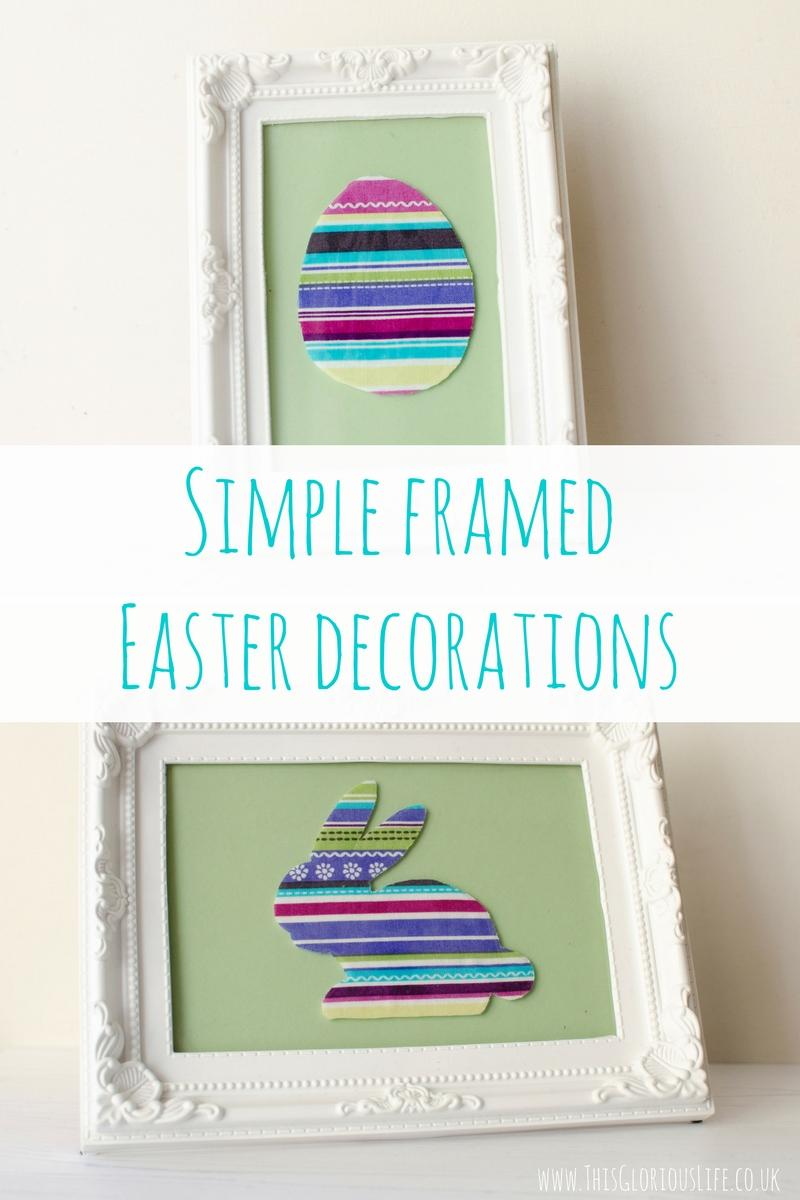 Simple framed Easter decorations