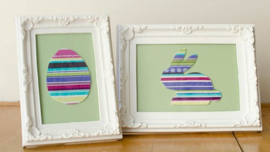 simple framed easter decorations craft activity