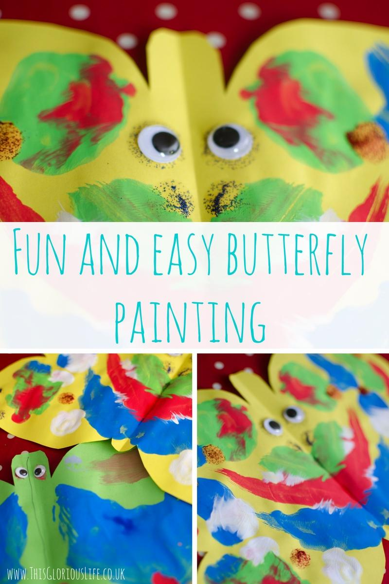 Fun and easy butterfly painting