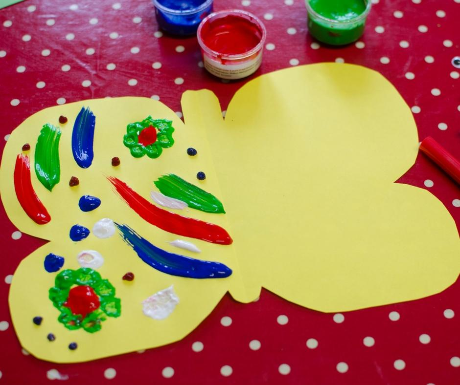simple butterfly painting craft bostik bloggers