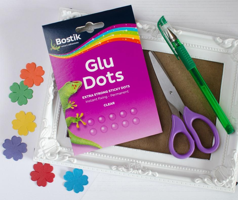 rainbow flower craft what you need