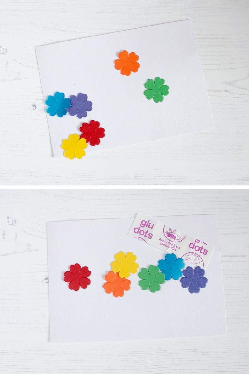 simple fun flower picture craft rainbow colours