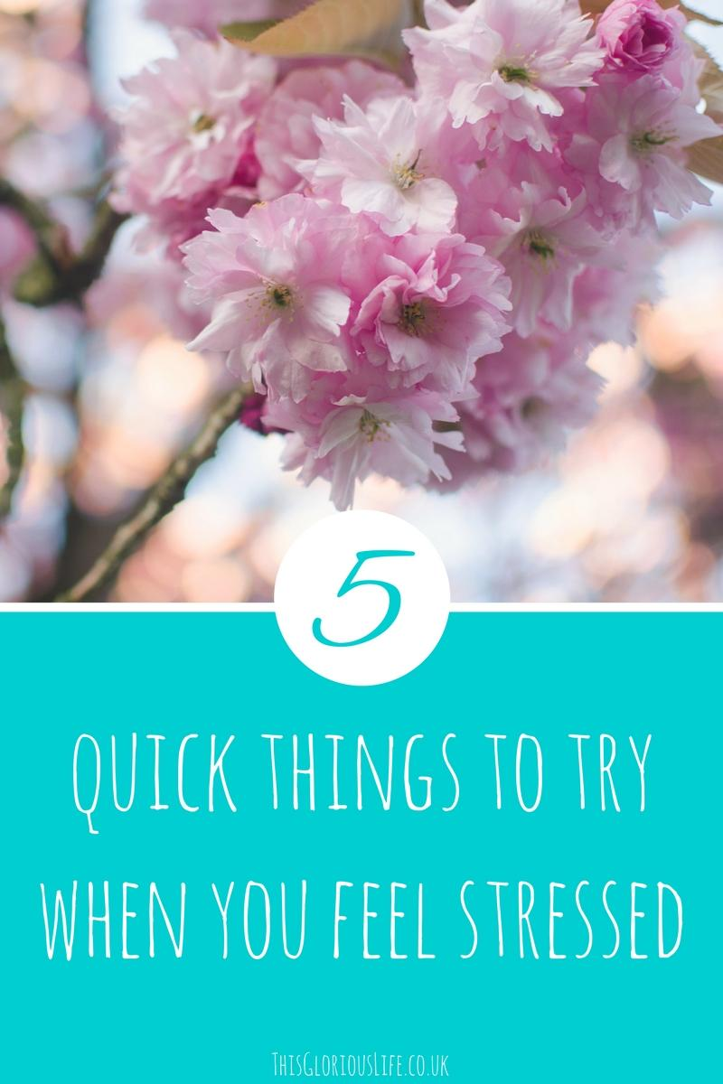 5 quick things to try feel stressed
