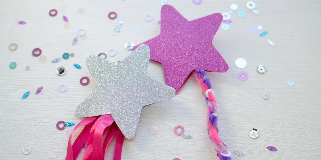 silver and purple fairy wands craft activity