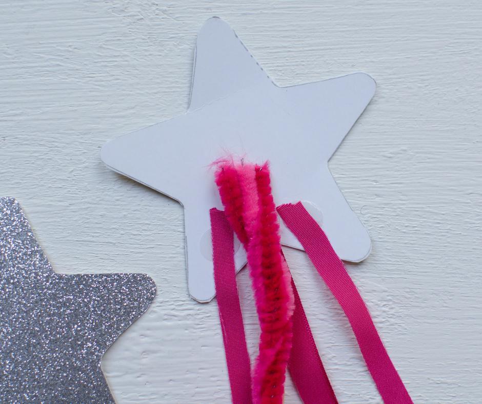 silver pink ribbon fun fairy wand craft