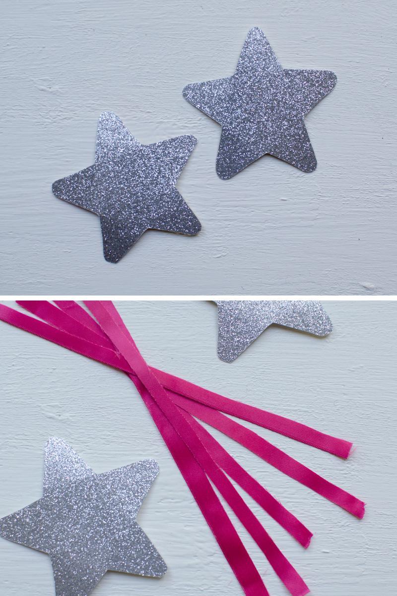 silver star fun easy fairy wand craft