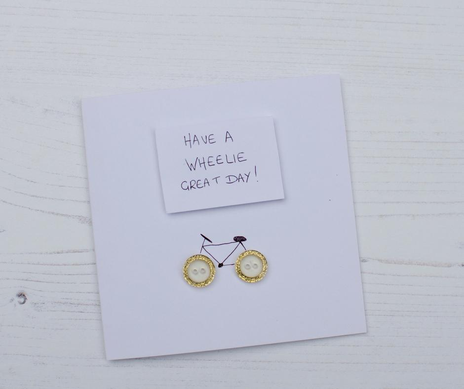 Have a wheelie great day simple bike theme greeting card