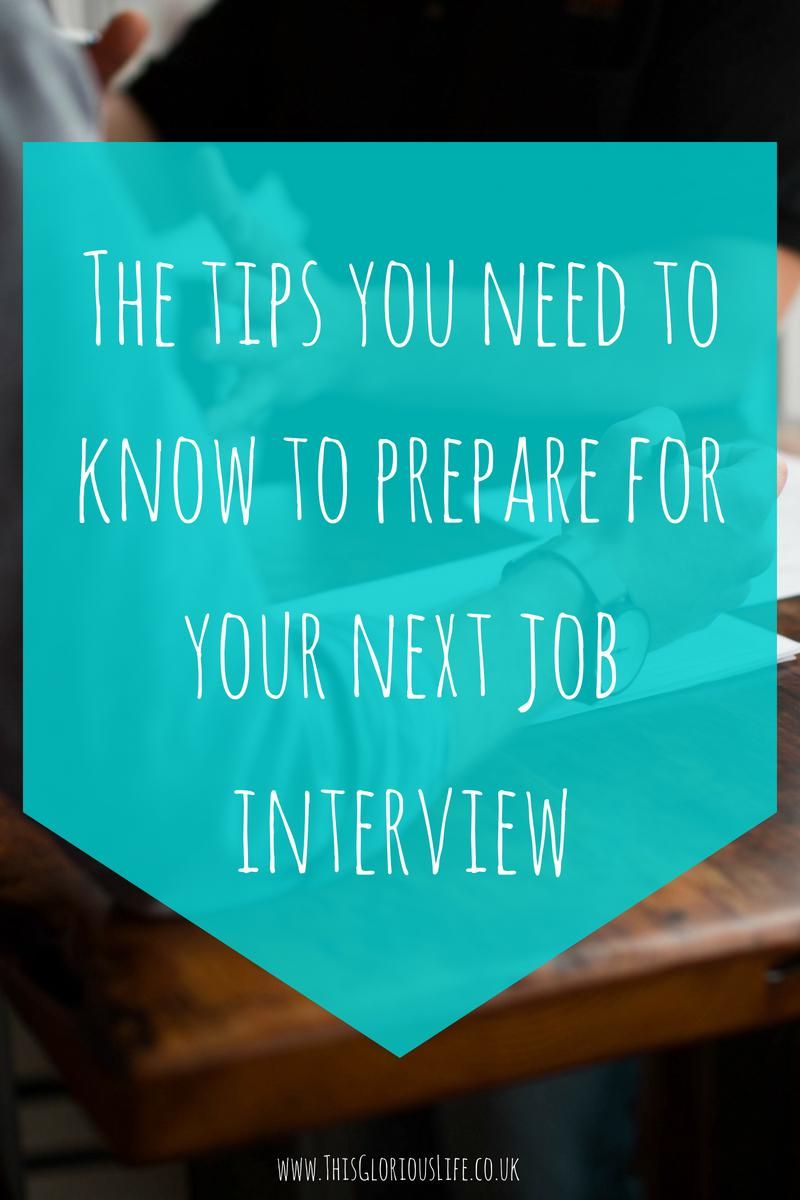 The tips you need to know to prepare for a job interview