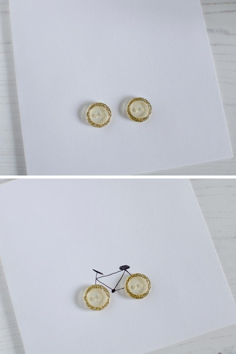 bike themed button card fathers day birthday
