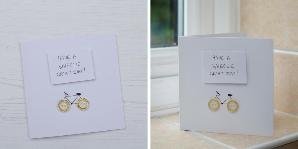 fun greeting card for cyclists