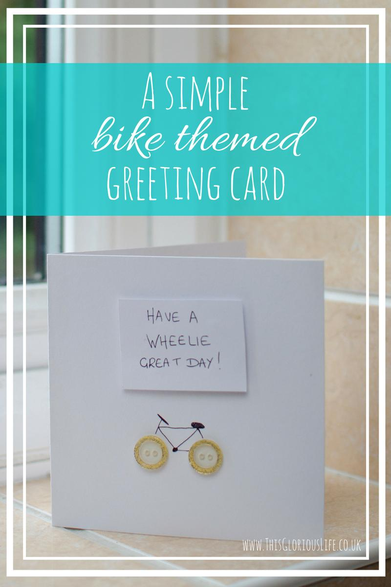 simple bike themed greeting card