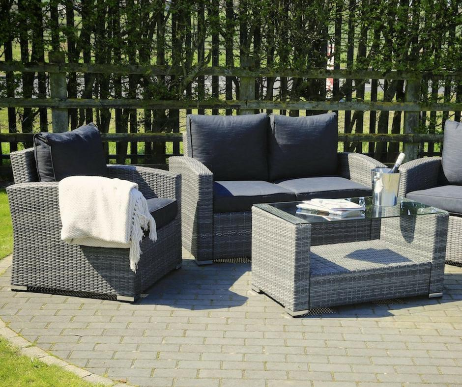 Easy to care for rattan garden furniture