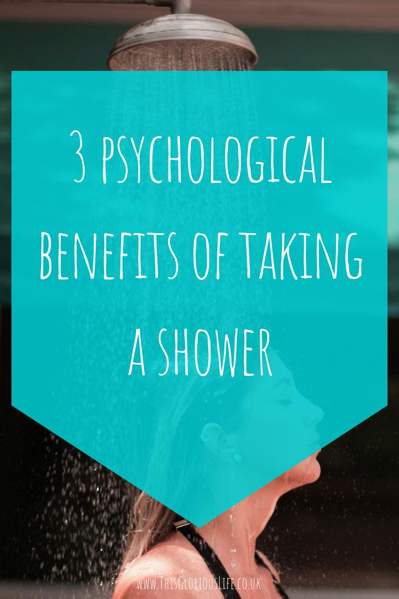 3 psychological benefits of taking a shower