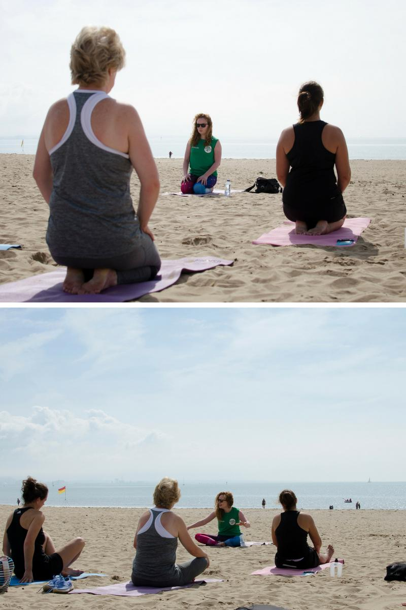 Beach yoga Swansea ParkLives