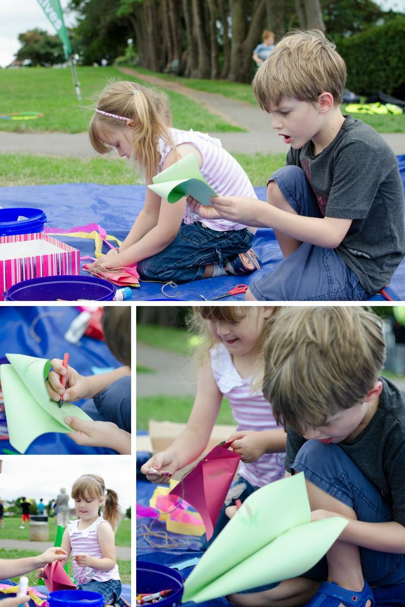 Kite making family fun ParkLives Swansea (1)