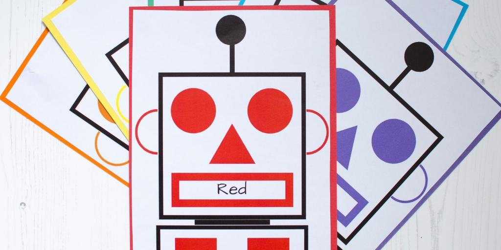 Colour and shape match robot game