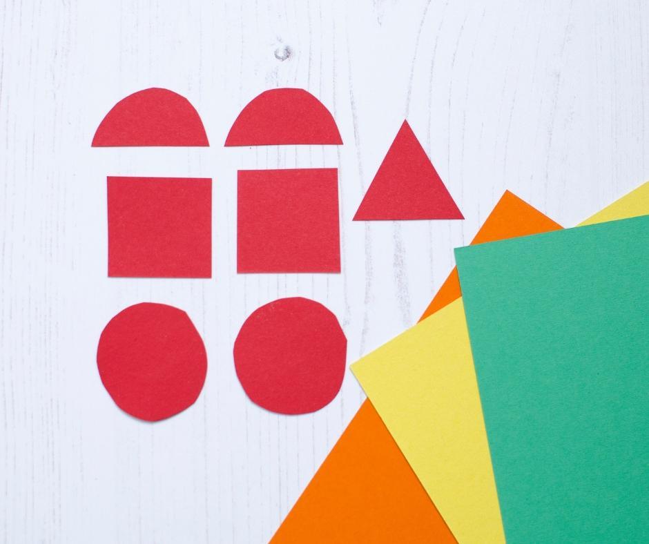 Robot colour shape match game cut out shapes