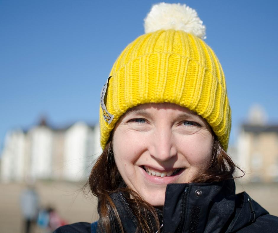 Yellow countryfile bobble hat for children in need Blacks