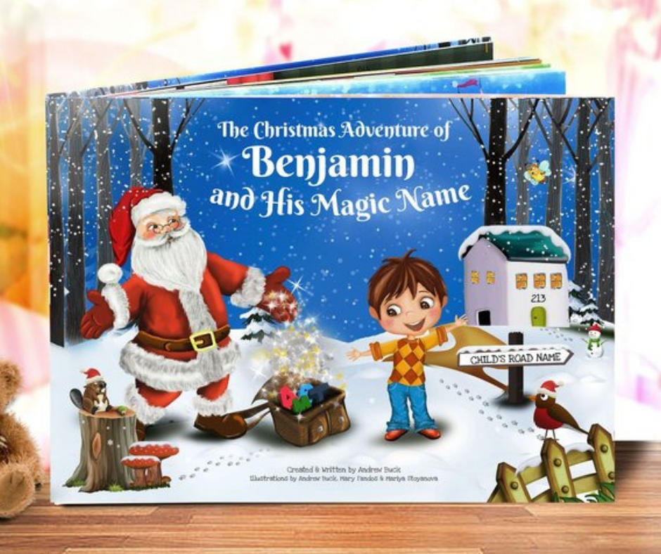 Etsy personalised Christmas book