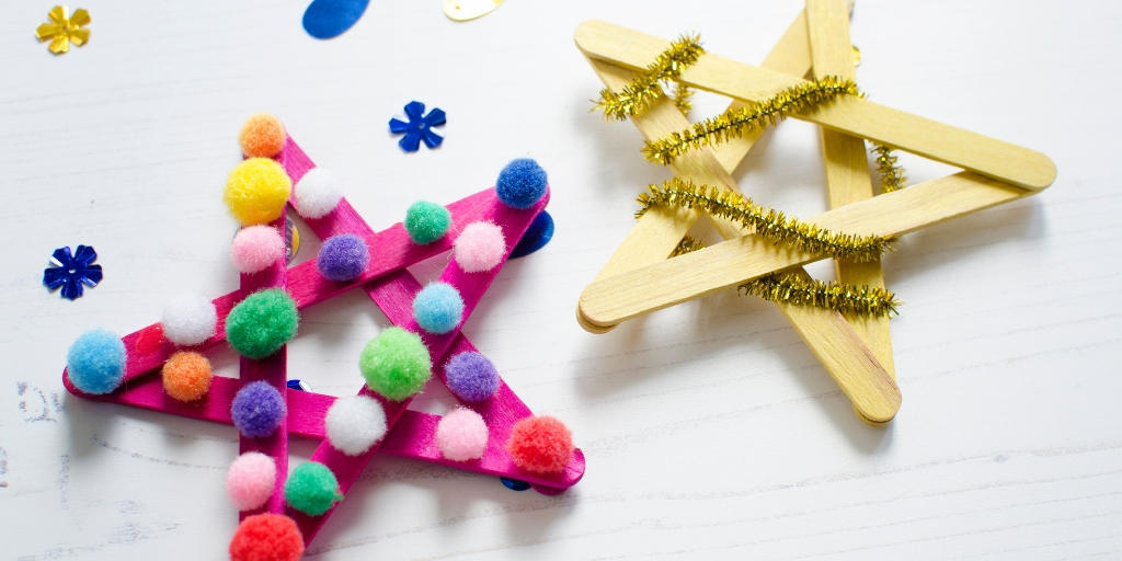 Fun lolly stick Christmas decorations