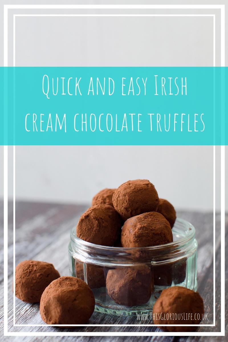 Quick and easy Irish cream chocolate truffles
