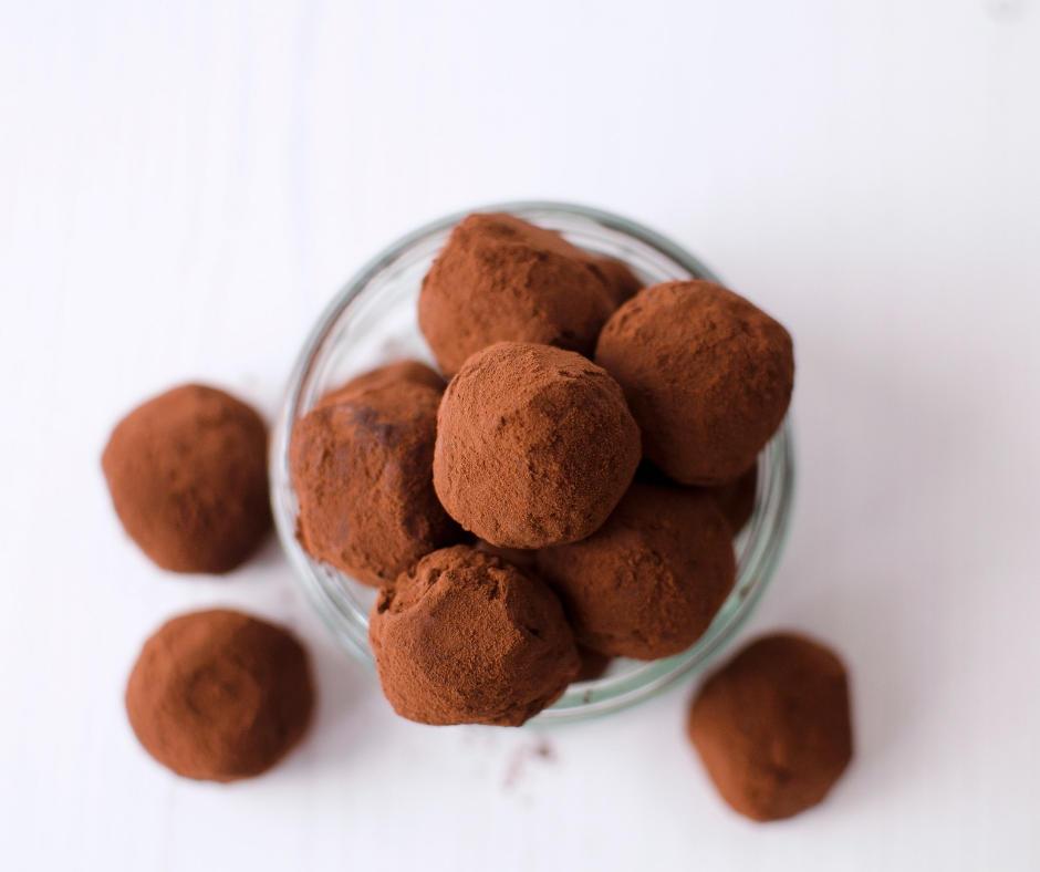 Simple Merlyn irish cream chocolate truffles