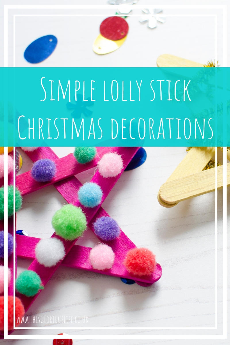 Simple lolly stick Christmas decorations