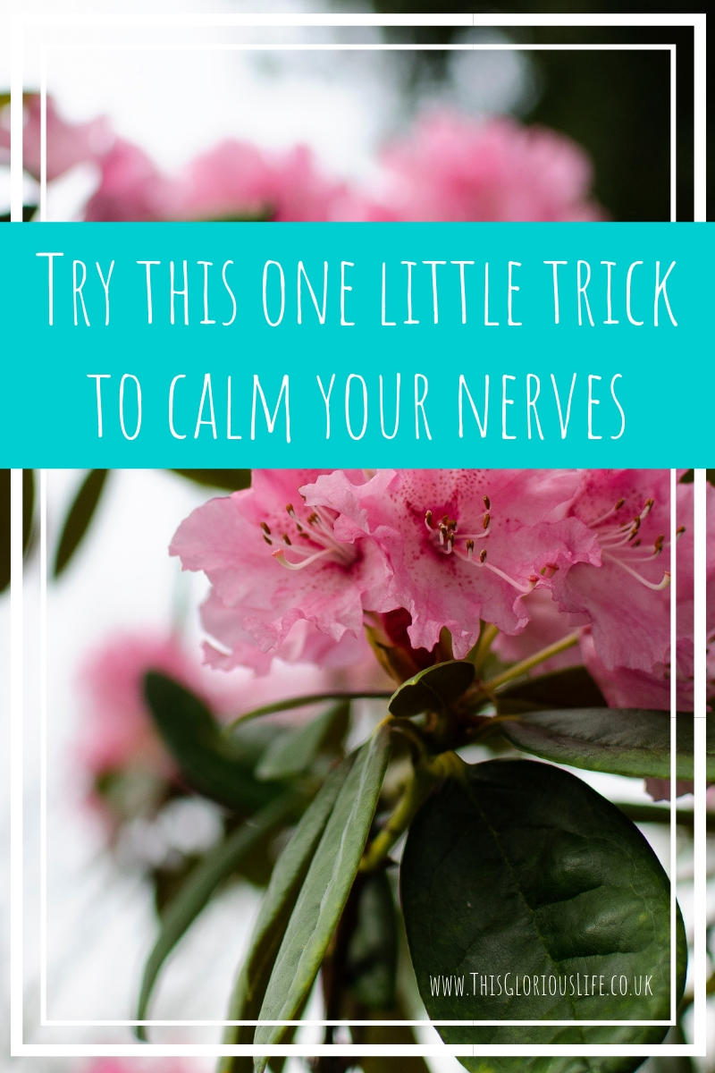 Try this one little trick to calm your nerves