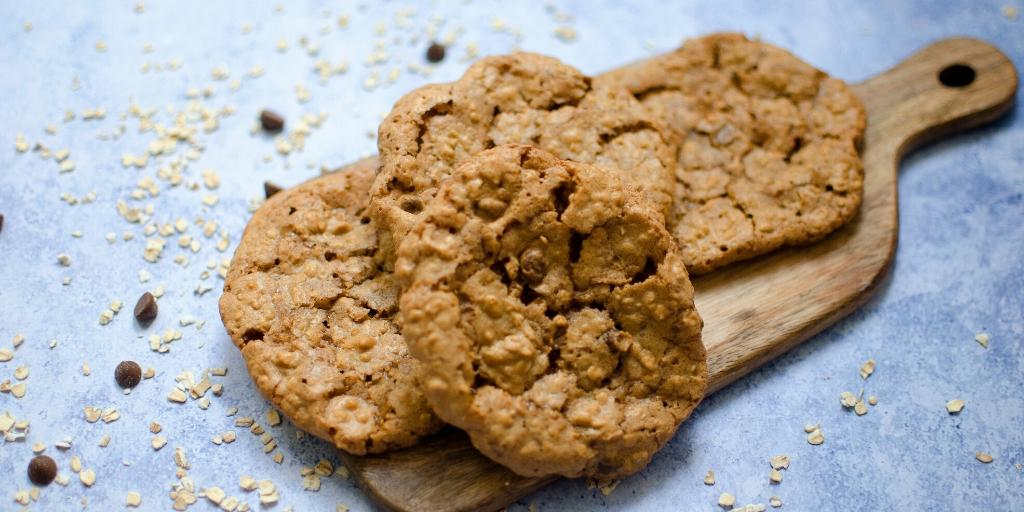 Biscoff oaty cookies
